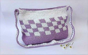 Kabelky - Hačkovaná kabelka - 9972945_