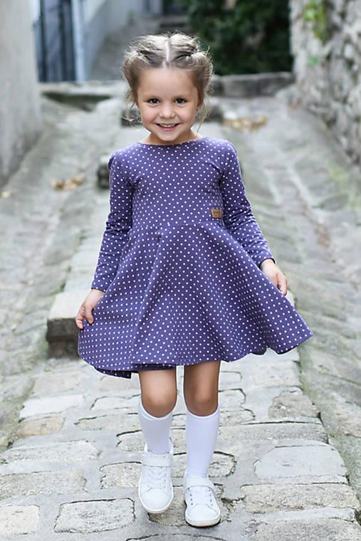 601cac1cfa7c Točivé šaty PURPLE   evenstyle - SAShE.sk - Handmade Detské oblečenie