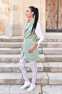 Iné oblečenie - Dámska vesta MINT - 9971201_