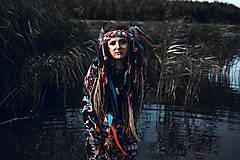 Ozdoby do vlasov - Farebná šamanská čelenka Halloween - 9972065_