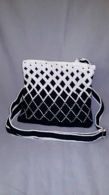 Kabelky - Malá čierno-biela - 9972084_