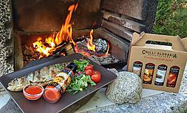 Potraviny - DARČEKOVÉ BALENIE Chilli omáčok 4x100ml - HNEDÉ (Salsa Fiesta Cabernet Habanero) - 9974541_