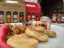 Potraviny - DARČEKOVÉ BALENIE Chilli omáčok 4x100ml - HNEDÉ (Salsa Fiesta Cabernet Habanero) - 9974553_
