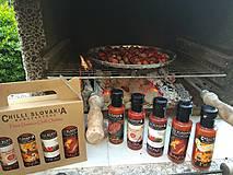 Potraviny - DARČEKOVÉ BALENIE Chilli omáčok 4x100ml - HNEDÉ (Salsa Fiesta Cabernet Habanero) - 9974882_