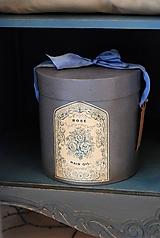Krabičky - Dekoračná okrúhla krabica - 9975172_