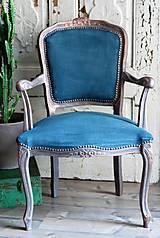 Nábytok - Kreslo Blue Copper - 9975195_