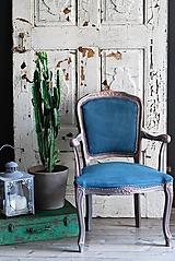 Nábytok - Kreslo Blue Copper - 9975196_