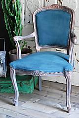 Nábytok - Kreslo Blue Copper - 9975197_