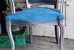 Nábytok - Kreslo Blue Copper - 9975198_