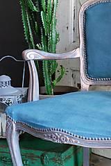 Nábytok - Kreslo Blue Copper - 9975199_