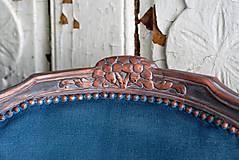 Nábytok - Kreslo Blue Copper - 9975206_