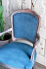 Nábytok - Kreslo Blue Copper - 9975208_