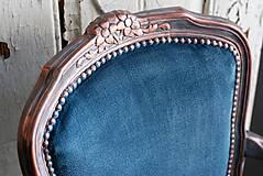 Nábytok - Kreslo Blue Copper - 9975209_