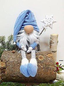 Dekorácie - Vianočný kúzelník - modrý - 9974098_