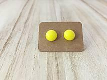 Náušnice - MINI sklenené náušničky - Svetlo žltá - 9973375_