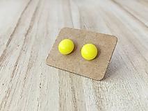 Náušnice - MINI sklenené náušničky - Svetlo žltá - 9973376_