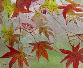 Obrazy - Podzim - olejomalba na plátně - 9971628_