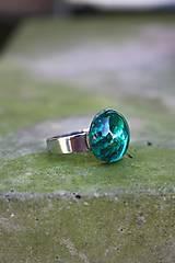 Prstene - Fusingový prsteň - Simple colours (Tyrkysová) - 9975771_