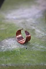 Prstene - Tepaný prsteň - Sila medi  - 9975844_