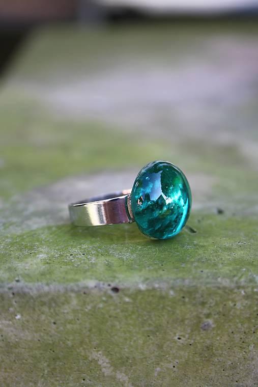 Fusingový prsteň - Simple colours (Tyrkysová)
