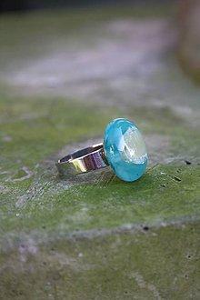 Prstene - Fusingový prsteň - Tyrkysové mámenie - 9975724_