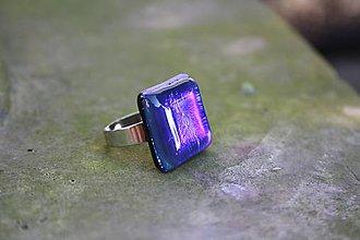 Prstene - Fusingový prsteň - Polnočný svit - 9975839_