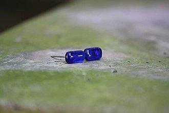 Náušnice - Puzetky Micro Tmavo-fialové paličky - 9978334_