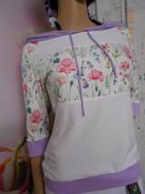 "Mikiny - FLORAL FOLK "" Off & White - field flowers "" dámska mikina - 9977985_"
