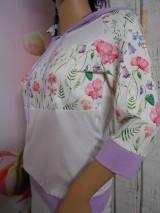 "Mikiny - FLORAL FOLK "" Off & White - field flowers "" dámska mikina - 9977987_"
