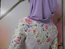 "Mikiny - FLORAL FOLK "" Off & White - field flowers "" dámska mikina - 9978007_"