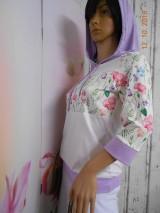 "Mikiny - FLORAL FOLK "" Off & White - field flowers "" dámska mikina - 9978010_"