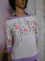 "Mikiny - FLORAL FOLK "" Off & White - field flowers "" dámska mikina - 9978018_"