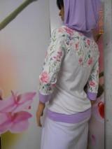 "Mikiny - FLORAL FOLK "" Off & White - field flowers "" dámska mikina - 9978020_"