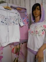 "Mikiny - FLORAL FOLK "" Off & White - field flowers "" dámska mikina - 9978022_"