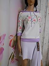"Mikiny - FLORAL FOLK "" Off & White - field flowers "" dámska mikina - 9978028_"