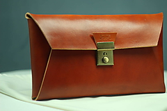 Kabelky - Kožená listová kabelka TAN GOLD - 9978360_