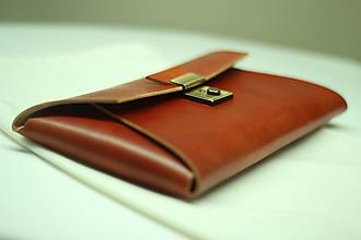 Kabelky - Kožená listová kabelka TAN GOLD - 9978344_