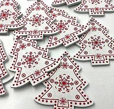 Polotovary - VY112 Výrez vianočný STROMČEK 5 cm  (Biela) - 9977730_
