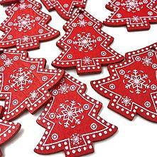 Polotovary - VY112 Výrez vianočný STROMČEK 5 cm  (Červená) - 9977732_