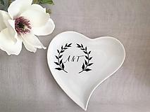 - Svadobný tanierik s iniciálami (S dátumom/menami) - 9977039_