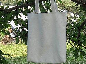 Nákupné tašky - Taška jemne krémová z ľanu - 9977768_