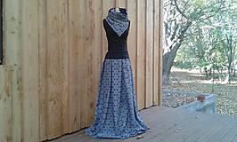 Sukne - Mandalová maxisukně modrá na míru - 9977152_