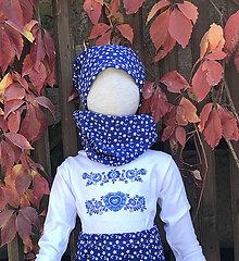Detské oblečenie - Nákrčník s čiapkou folk - 9976729_