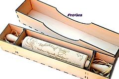 Drevený valček s gravírovaním + drevená darčeková krabička (set)