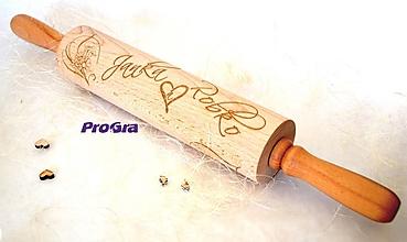 Pomôcky - Drevený valček s venovaním k svadbe - 9977961_