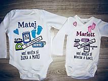 Detské oblečenie - Body k narodeniu dieťatka - 9978183_