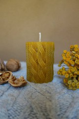 sviečka z včelieho vosku- svetrová
