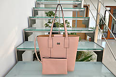 Kabelky - Kožená kabelka MATI ružová - 9975706_