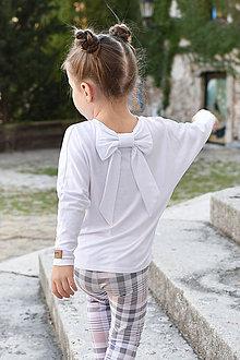 Detské oblečenie - Dievčenský nátelník WHITE LEISURE - 9976615_