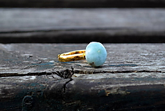 Larimar prsteň Ag 925